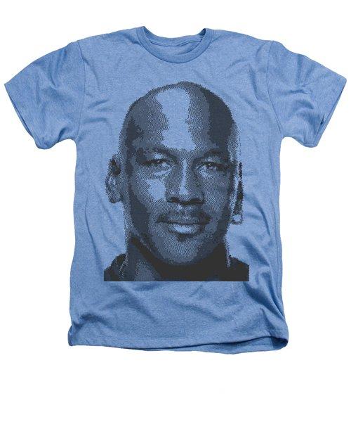 Michael Jordan - Cross Hatching Heathers T-Shirt by Samuel Majcen