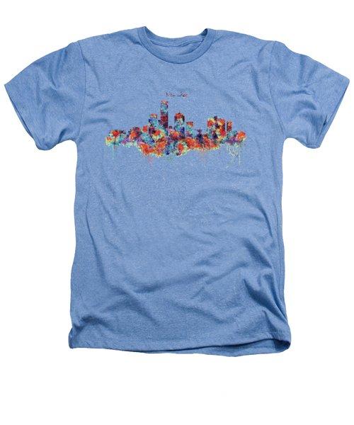 Milwaukee Watercolor Skyline Heathers T-Shirt