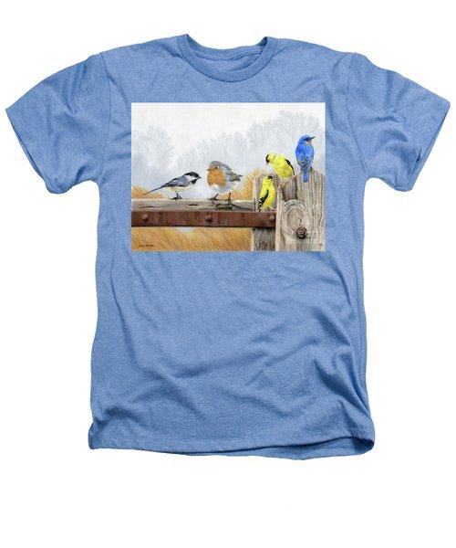 Misty Morning Meadow Heathers T-Shirt