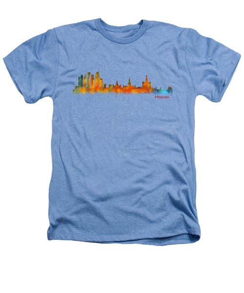 Moscow City Skyline Hq V2 Heathers T-Shirt by HQ Photo