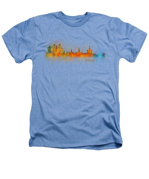 Moscow City Skyline Hq V3 Heathers T-Shirt by HQ Photo