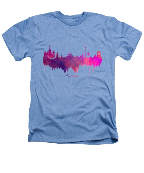 Moscow Russia Skyline Purple Heathers T-Shirt