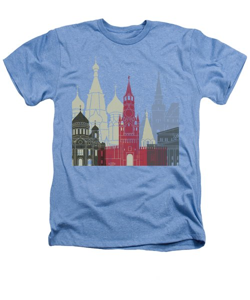 Moscow Skyline Poster Heathers T-Shirt by Pablo Romero