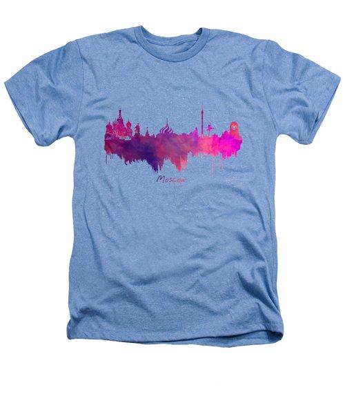 Moscow Skyline Purple Heathers T-Shirt