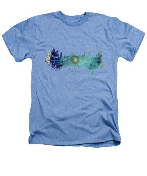 Moscow Skyline Wind Rose Heathers T-Shirt