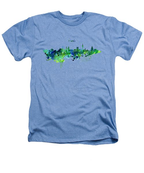 Munich Skyline Silhouette Heathers T-Shirt