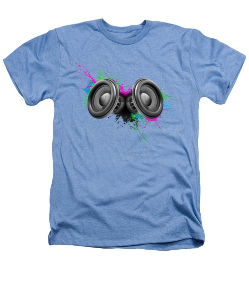 Music Speakers Colorful Design Heathers T-Shirt