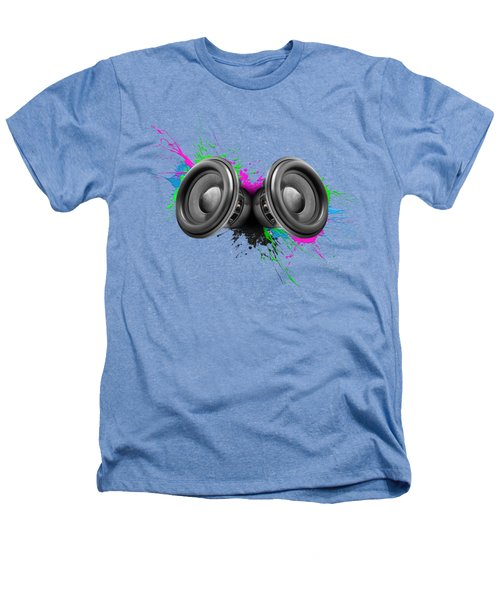 Music Speakers Colorful Design Heathers T-Shirt by Johan Swanepoel