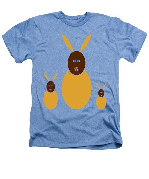 Mustard Bunnies Heathers T-Shirt by Frank Tschakert