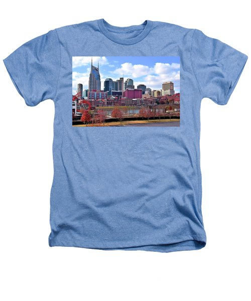 Nashville On The Riverfront Heathers T-Shirt by Frozen in Time Fine Art Photography