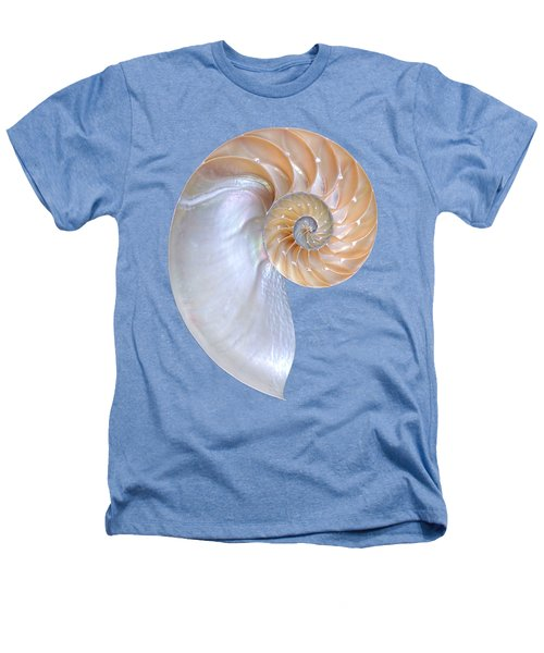Natural Nautilus On White Vertical Heathers T-Shirt