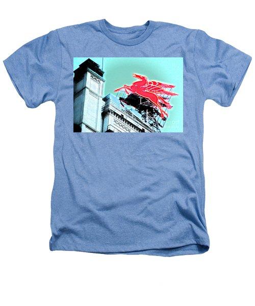 Neon Pegasus Atop Magnolia Building In Dallas Texas Heathers T-Shirt