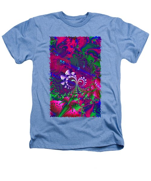 Nerd Berries Psychedelic Fractal Heathers T-Shirt by Sharon and Renee Lozen
