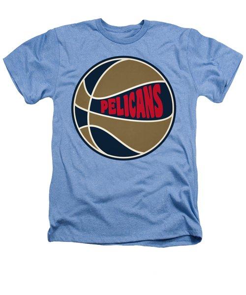 New Orleans Pelicans Retro Shirt Heathers T-Shirt by Joe Hamilton