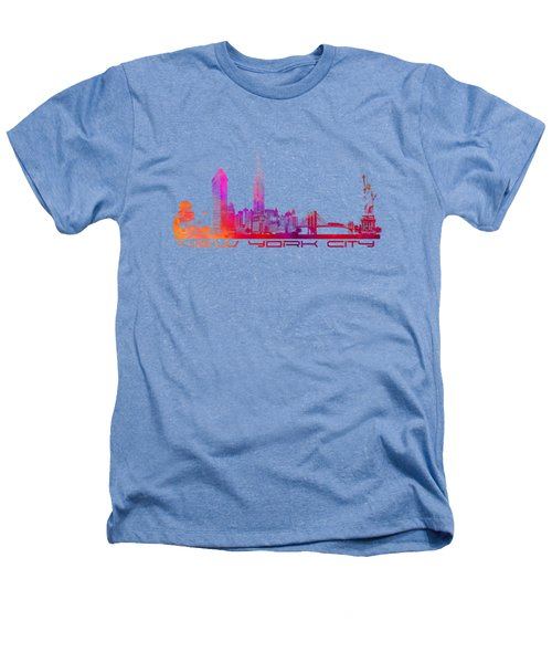 New York City Skyline Purple Heathers T-Shirt