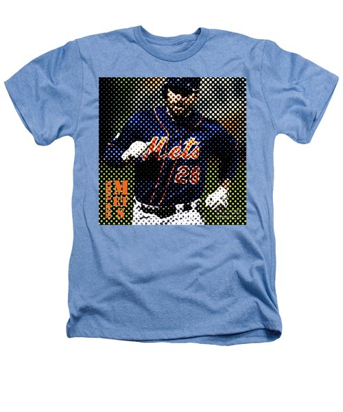 New York Mets Dots News Heathers T-Shirt