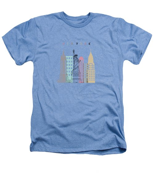 New York  Minimal  Heathers T-Shirt