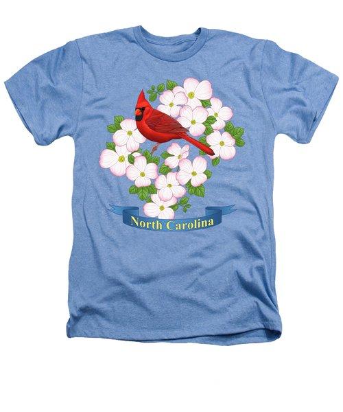 North Carolina State Bird And Flower Heathers T-Shirt