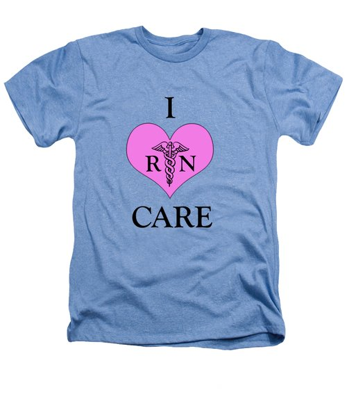 Nursing I Care -  Pink Heathers T-Shirt