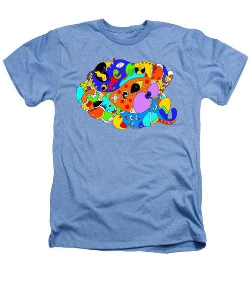 Ocean Life Heathers T-Shirt by Sally Bosenburg