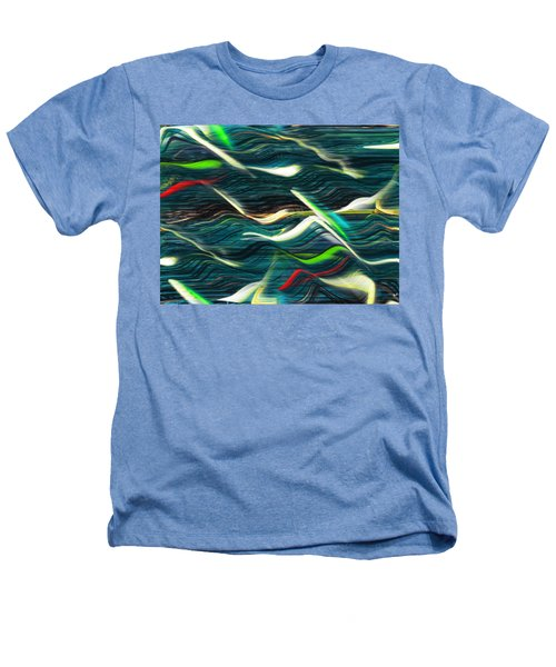 Ocean Run 2 Heathers T-Shirt by Yul Olaivar