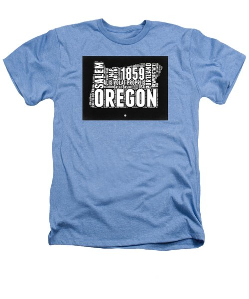 Oregon Black And White Map Heathers T-Shirt