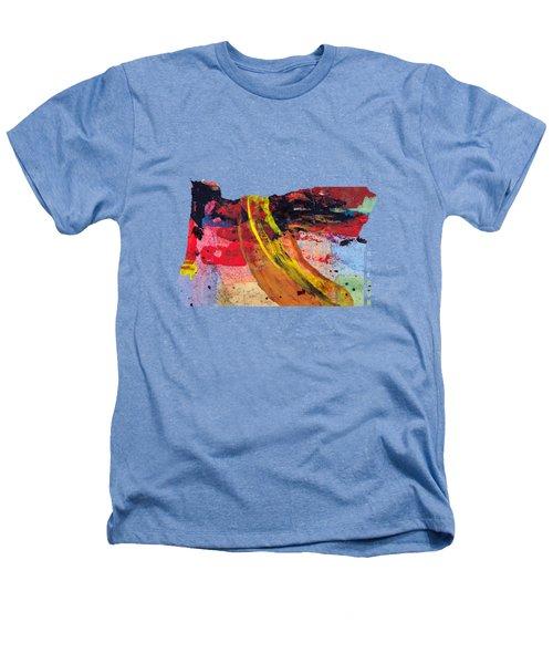 Oregon Map Art - Painted Map Of Oregon Heathers T-Shirt