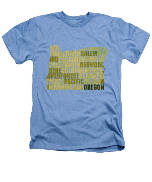Oregon State Outline Word Map Heathers T-Shirt by Design Turnpike