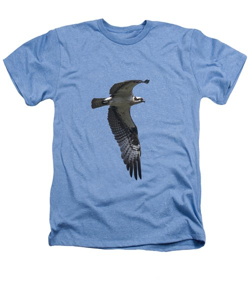 Osprey In Flight 2 Heathers T-Shirt by Priscilla Burgers
