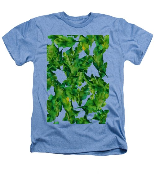 Overlapping Leaves Heathers T-Shirt by Cortney Herron