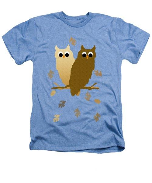 Owls Pattern Art Heathers T-Shirt by Christina Rollo