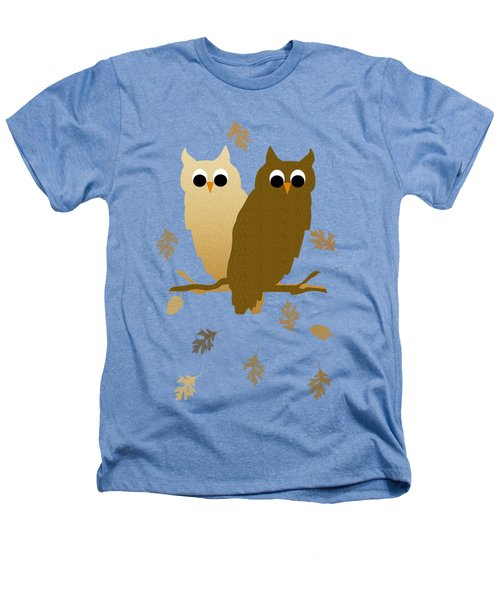 Owls Pattern Art Heathers T-Shirt