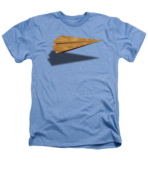 Paper Airplanes Of Wood 9 Heathers T-Shirt by YoPedro