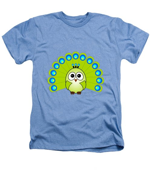 Peacock  - Birds - Art For Kids Heathers T-Shirt by Anastasiya Malakhova