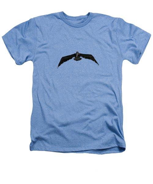 Pelican In Flight  Heathers T-Shirt by Zina Stromberg