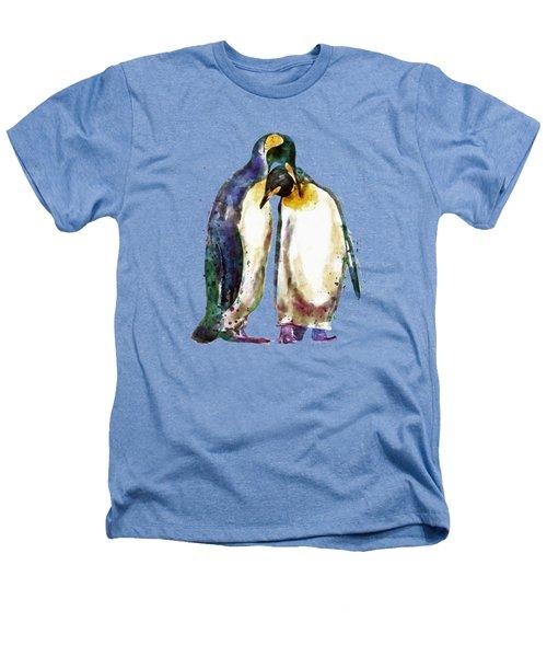 Penguin Couple Heathers T-Shirt