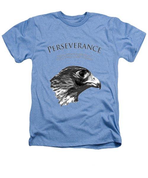 Peregrine Falcon Tashunka Heathers T-Shirt by Christina Rollo