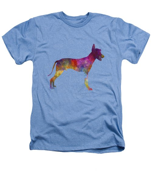 Peruvian Hairless Dog In Watercolor Heathers T-Shirt