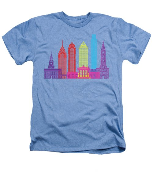 Philadelphia Skyline Pop Heathers T-Shirt by Pablo Romero