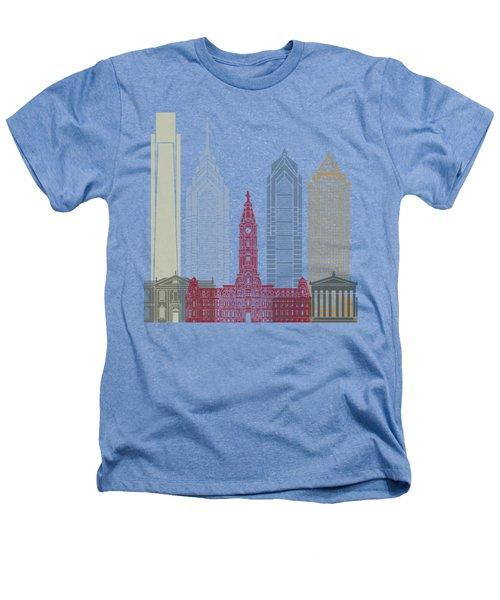 Philadelphia Skyline Poster Heathers T-Shirt by Pablo Romero