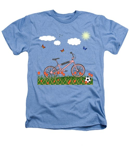 Pink Bicycle Heathers T-Shirt by Gaspar Avila