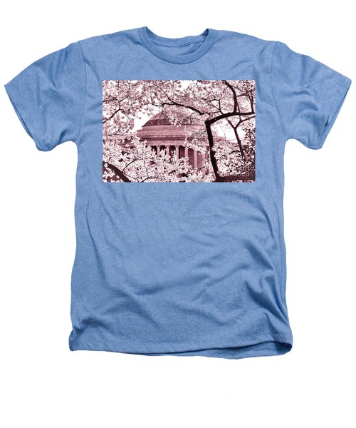 Pink Cherry Trees At The Jefferson Memorial Heathers T-Shirt