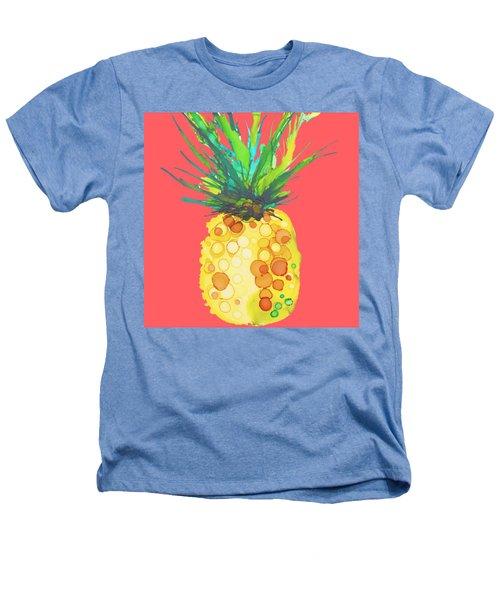 Pink Pineapple Daquari Heathers T-Shirt by Marla Beyer