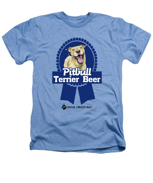 Pit Bull Terrier Beer Heathers T-Shirt