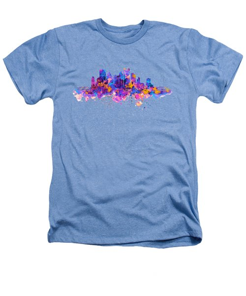Pittsburgh Skyline Heathers T-Shirt by Marian Voicu