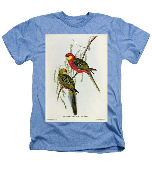 Platycercus Icterotis Heathers T-Shirt by John Gould