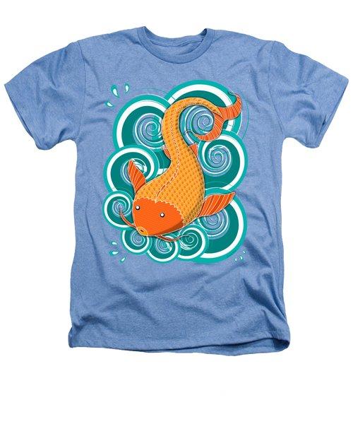 Playing Koi Heathers T-Shirt by Shawna Rowe