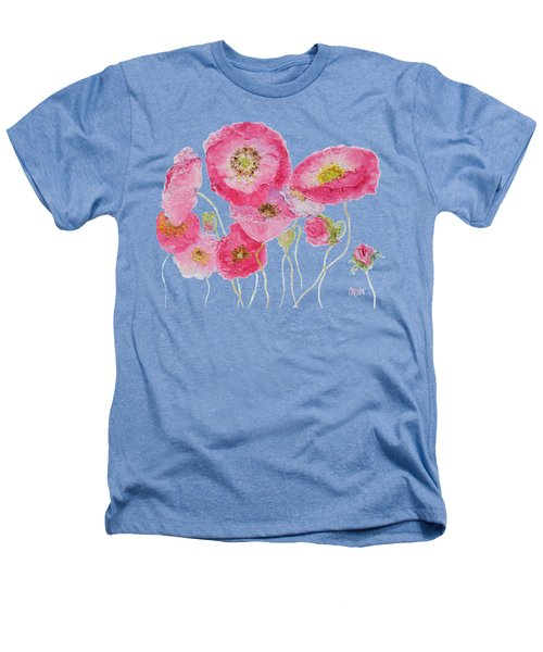 Poppy Painting On White Background Heathers T-Shirt by Jan Matson