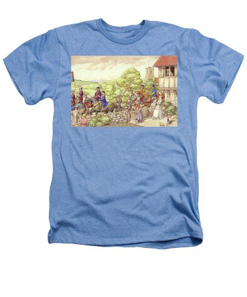 Prince Edward Riding From Ludlow To London Heathers T-Shirt by Pat Nicolle