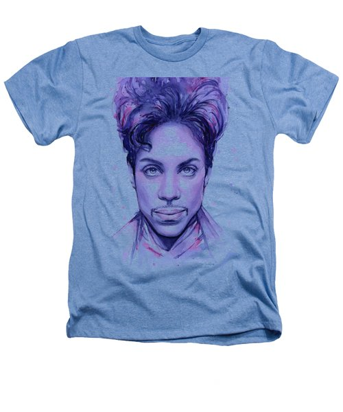 Prince Purple Watercolor Heathers T-Shirt by Olga Shvartsur